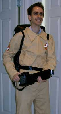 Kyle's Ghostbuster costume