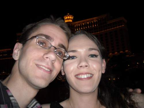 Us in front of the Bellagio