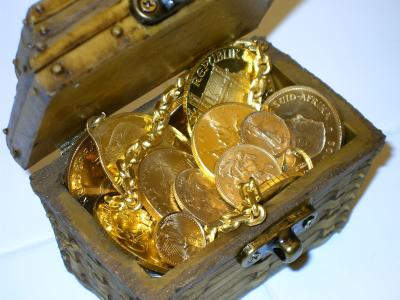 Treasure chest full of gold